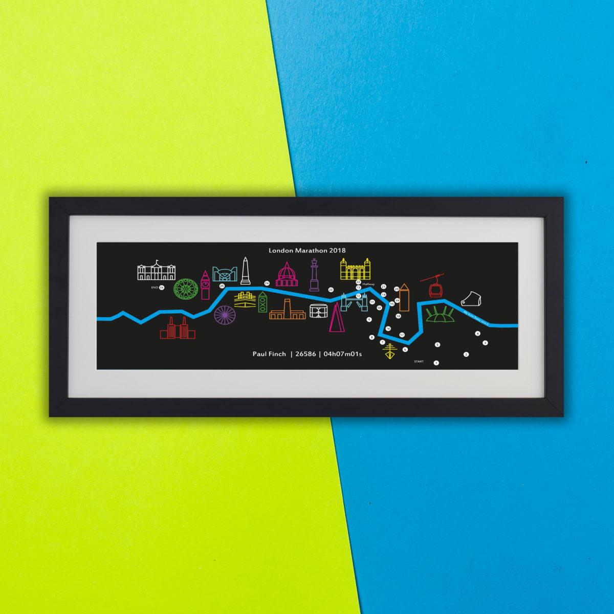 Personalised London Marathon Print