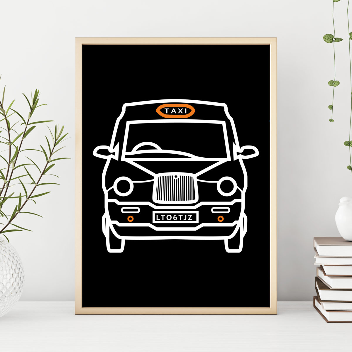 Personalsied  London Taxi Print