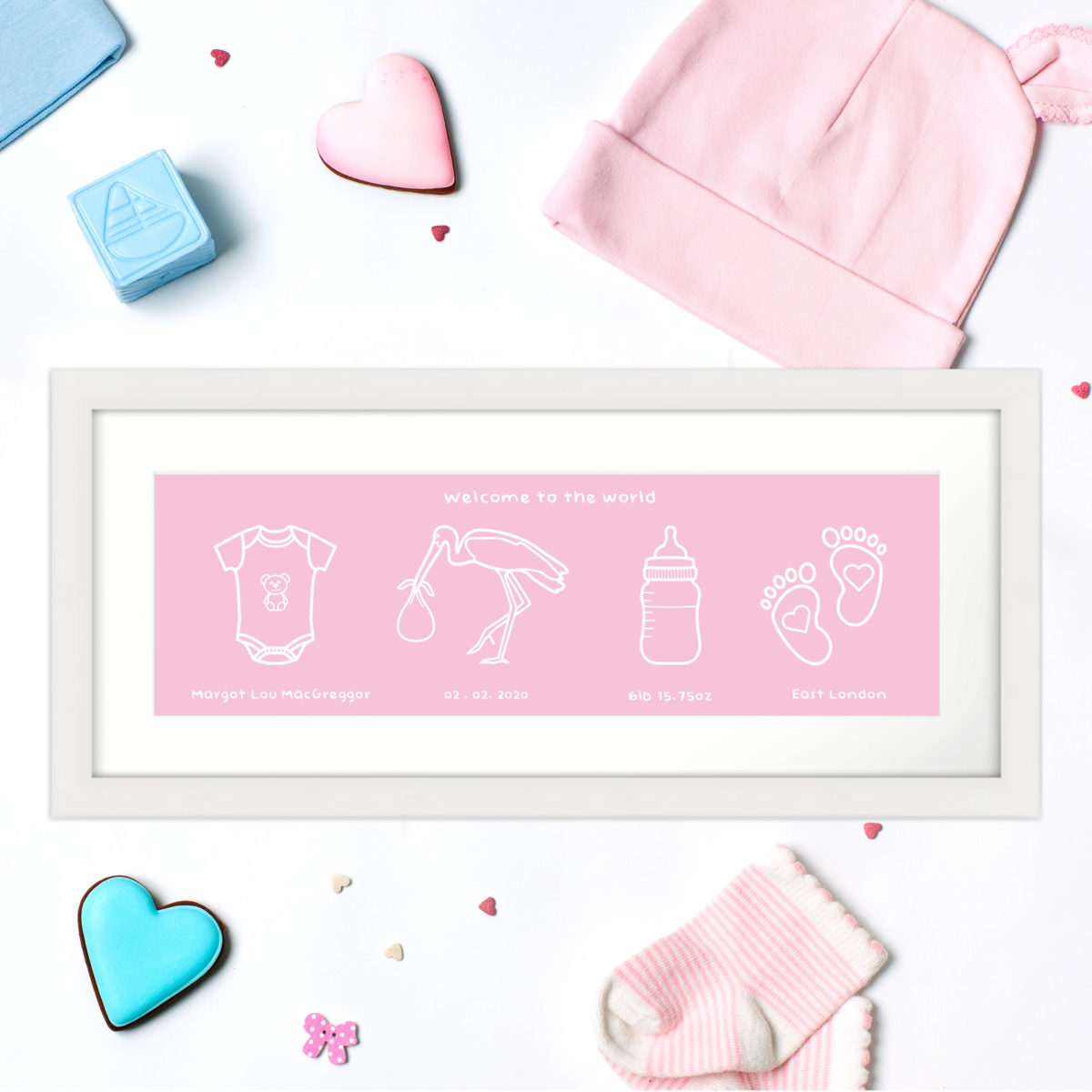 Personalised New Born Baby Print