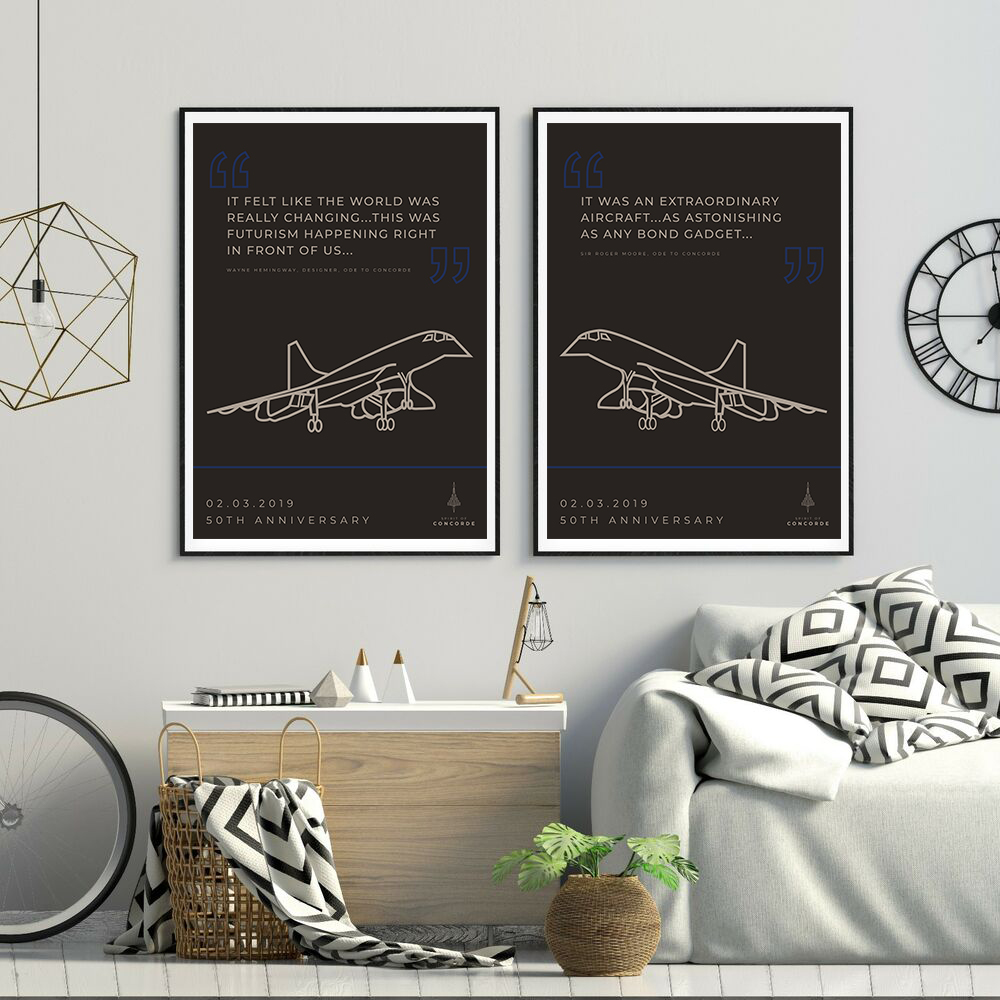 Concorde 50th Anniversary Quote Pair