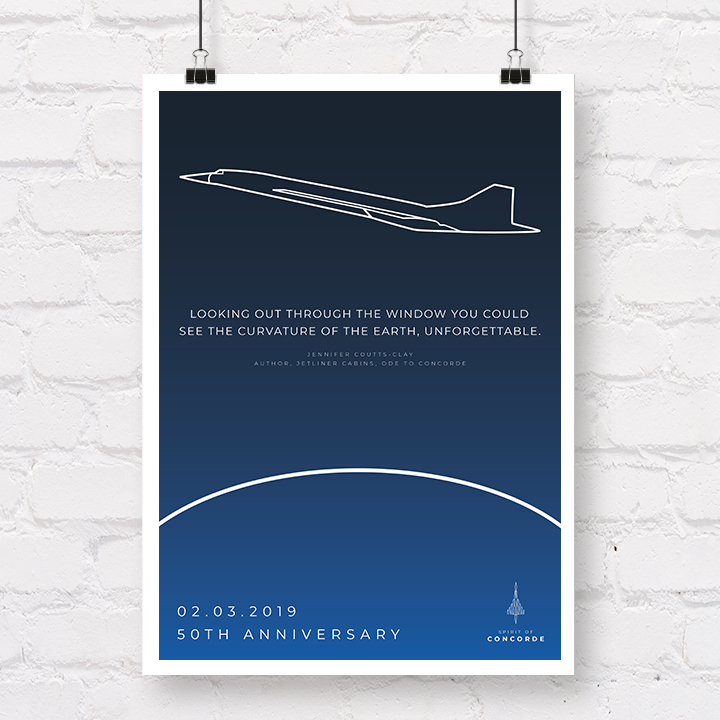 Concorde 50th Anniversary Curvature of the Earth