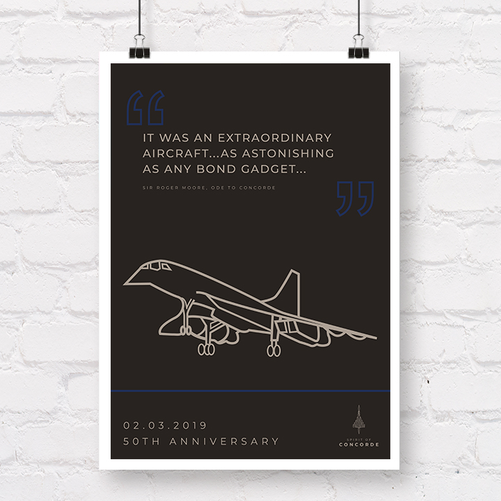 Concorde 50th Anniversary Sir Roger Moore