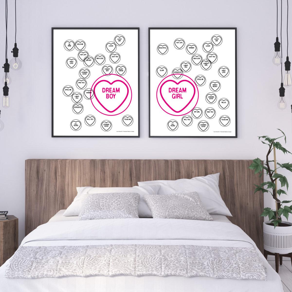 Love Hearts Matching Dream Boy Dream Girl Poster