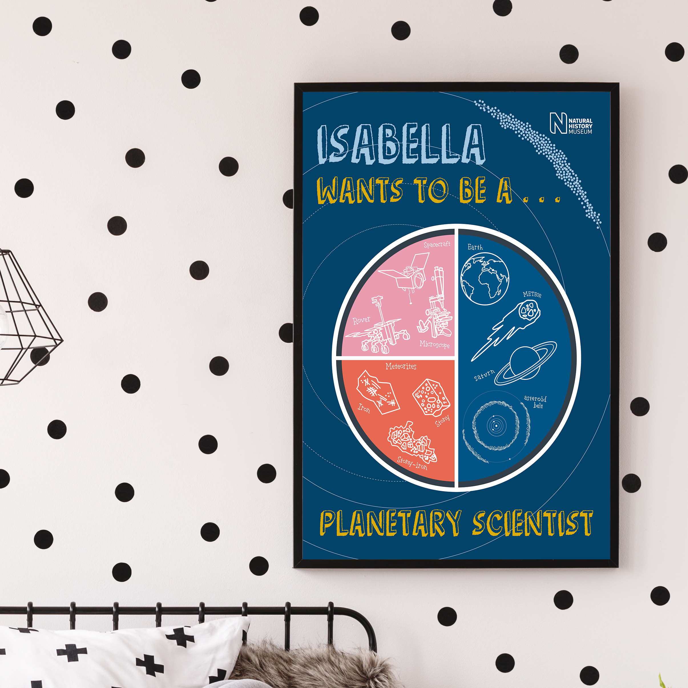 My Icon Story x Natural History Museum Ppersonalised Planetary Scientist poster