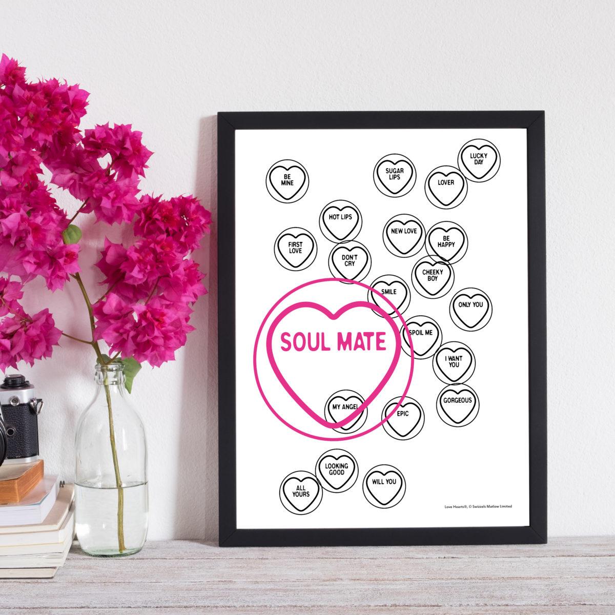 Love Hearts Love-Art Print