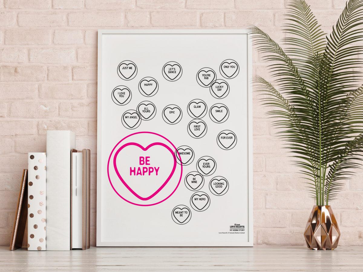 Love Hearts Love-Art Wall Poster