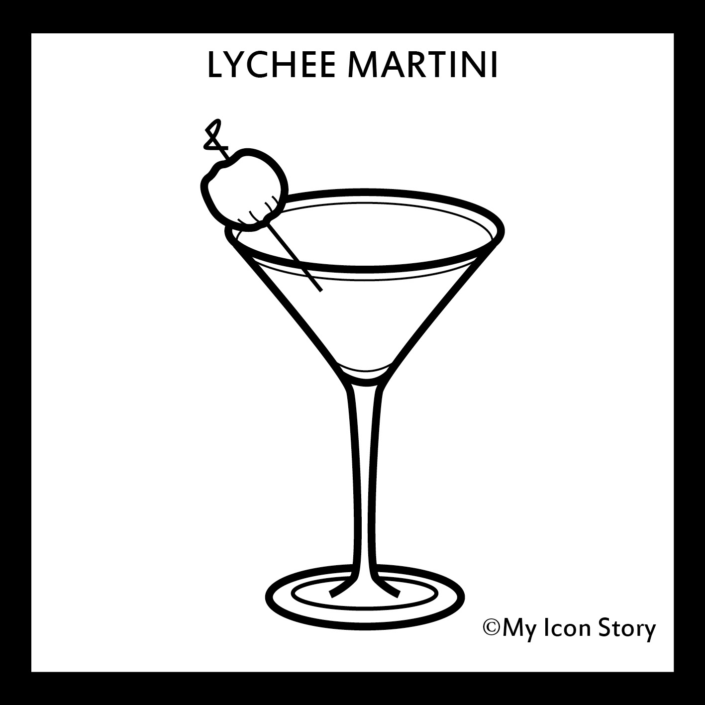 Lychee Martini icon by My Icon Story