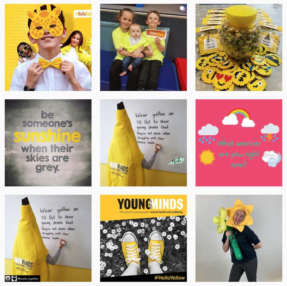 Instagram feed for Young Minds Hello Yellow