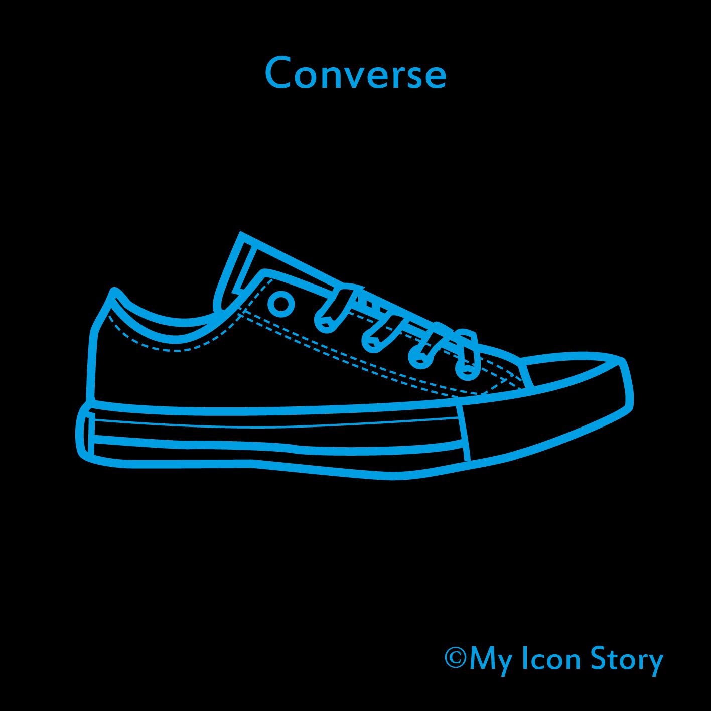 Blue Converse Icon