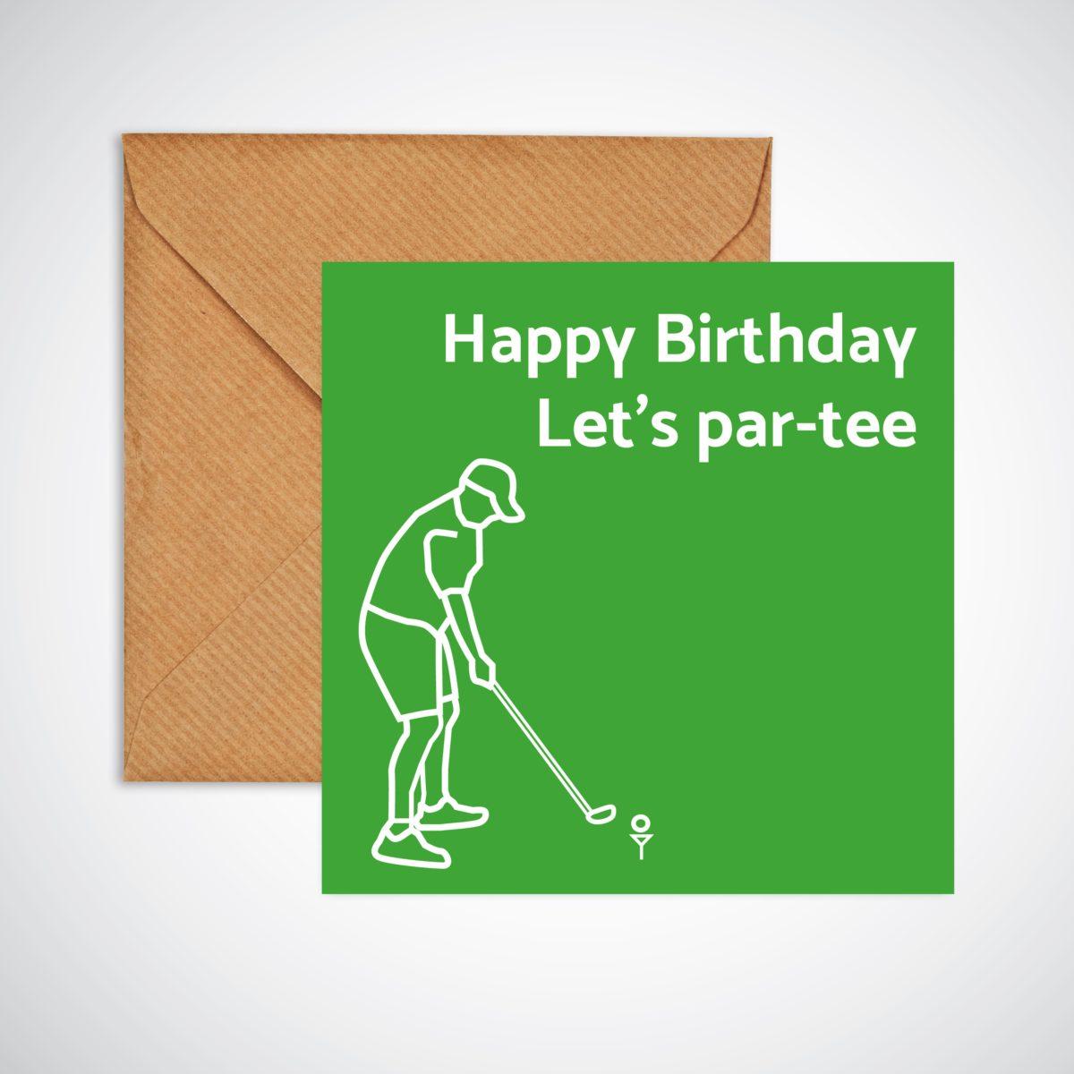 Let's Par-tee Birthday Card