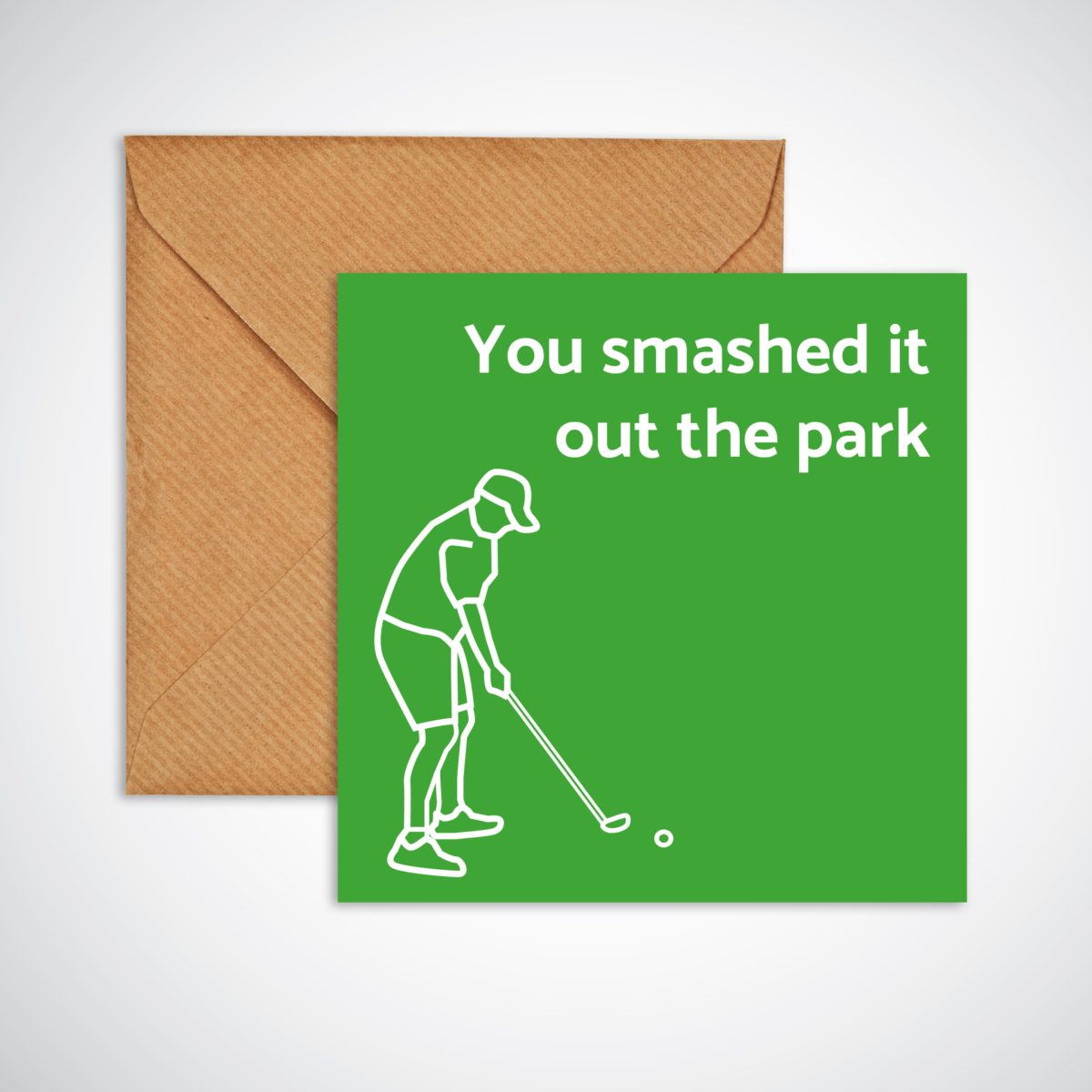 Smashed it out the park Congratulations Card