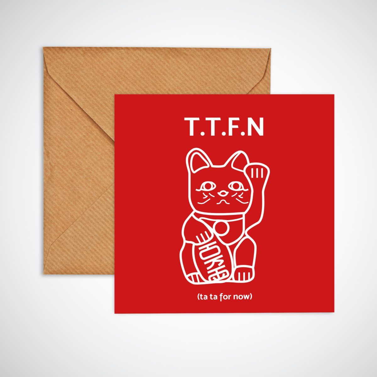 Ta Ta for now leaving card