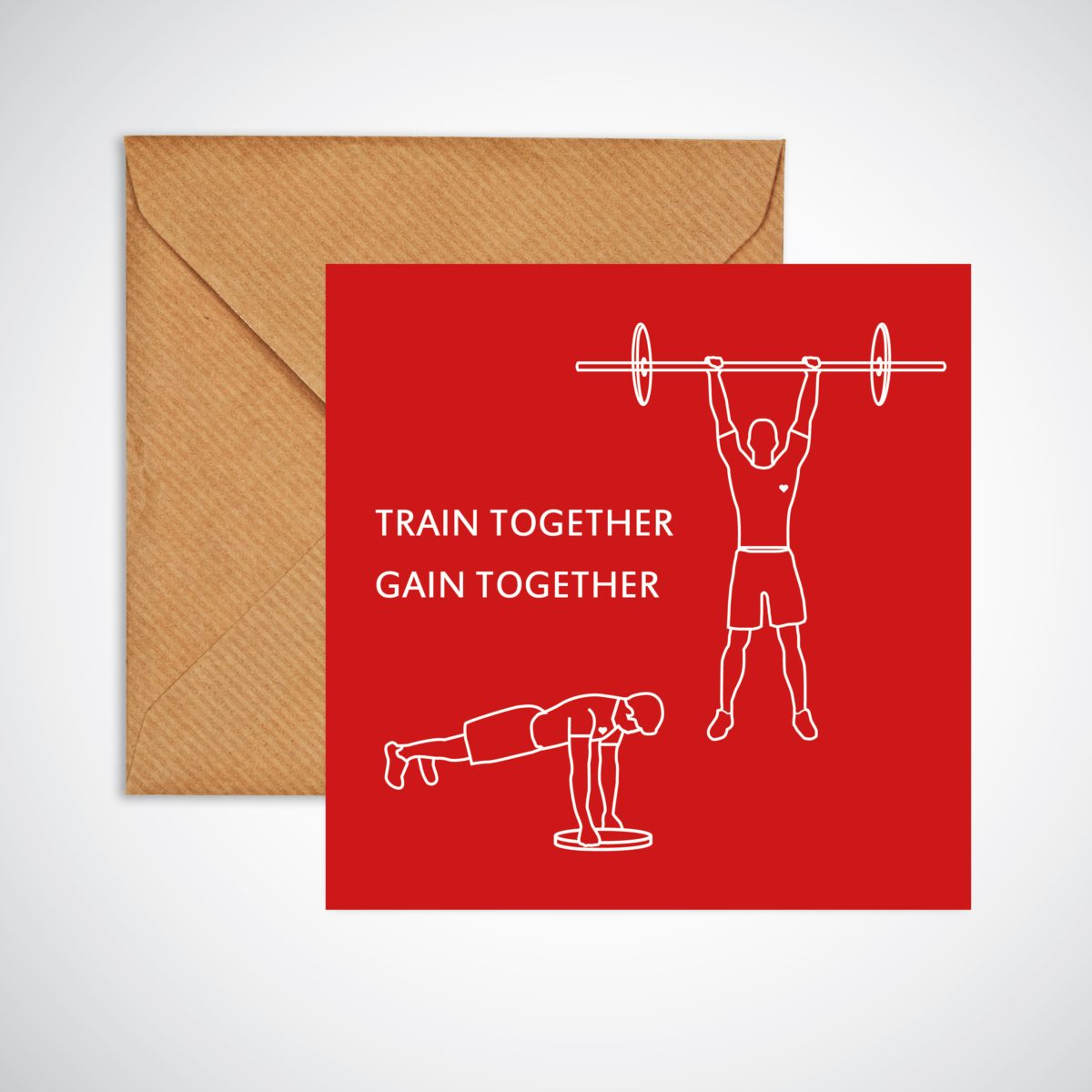Guys Who Train Together Gain Together Valentine's Day Card