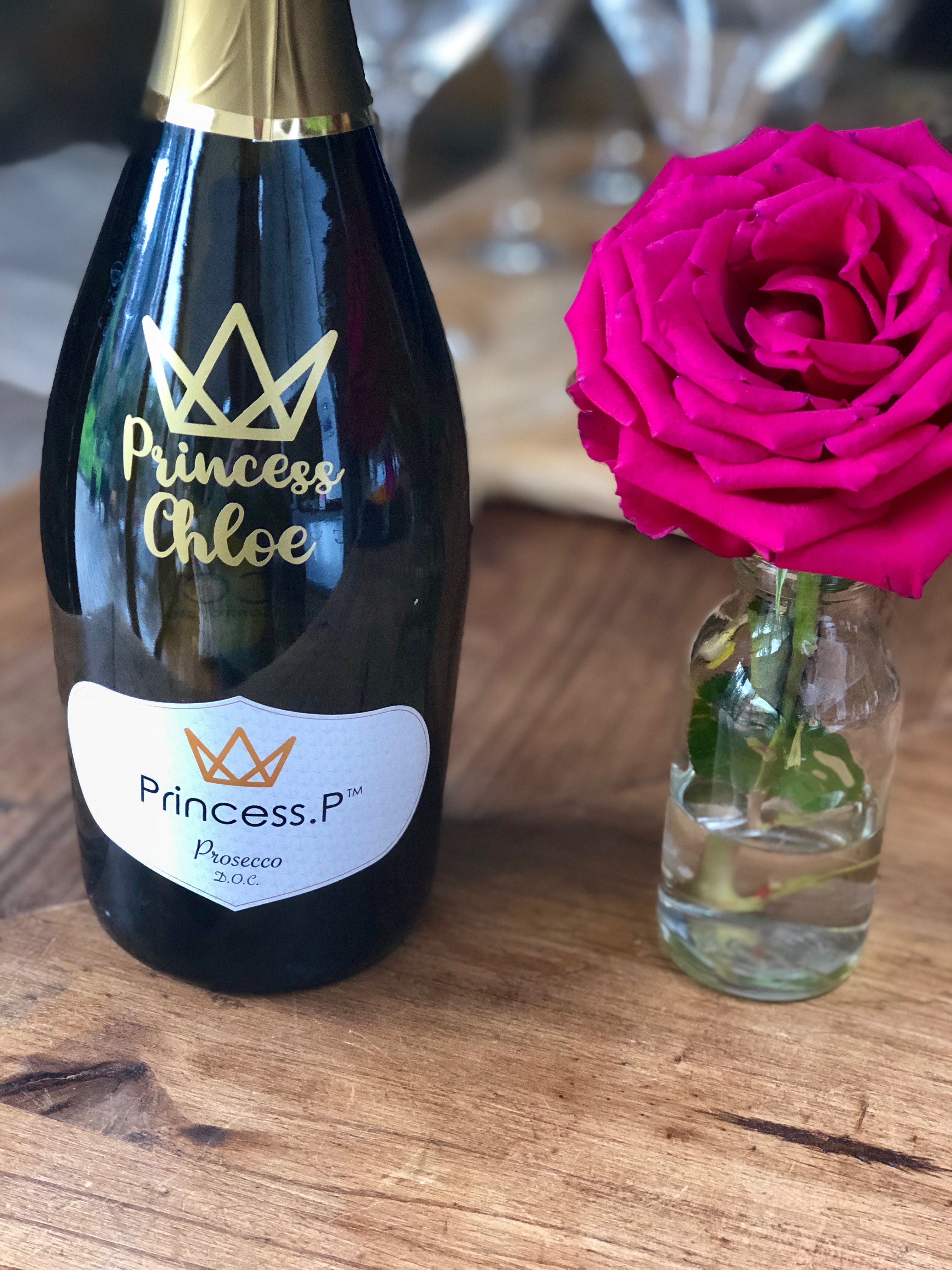 Personalised Princess Prosecco bottle