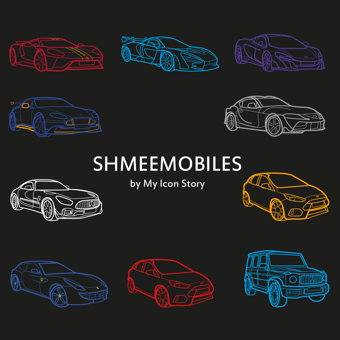 Supercar icons of Shmee150