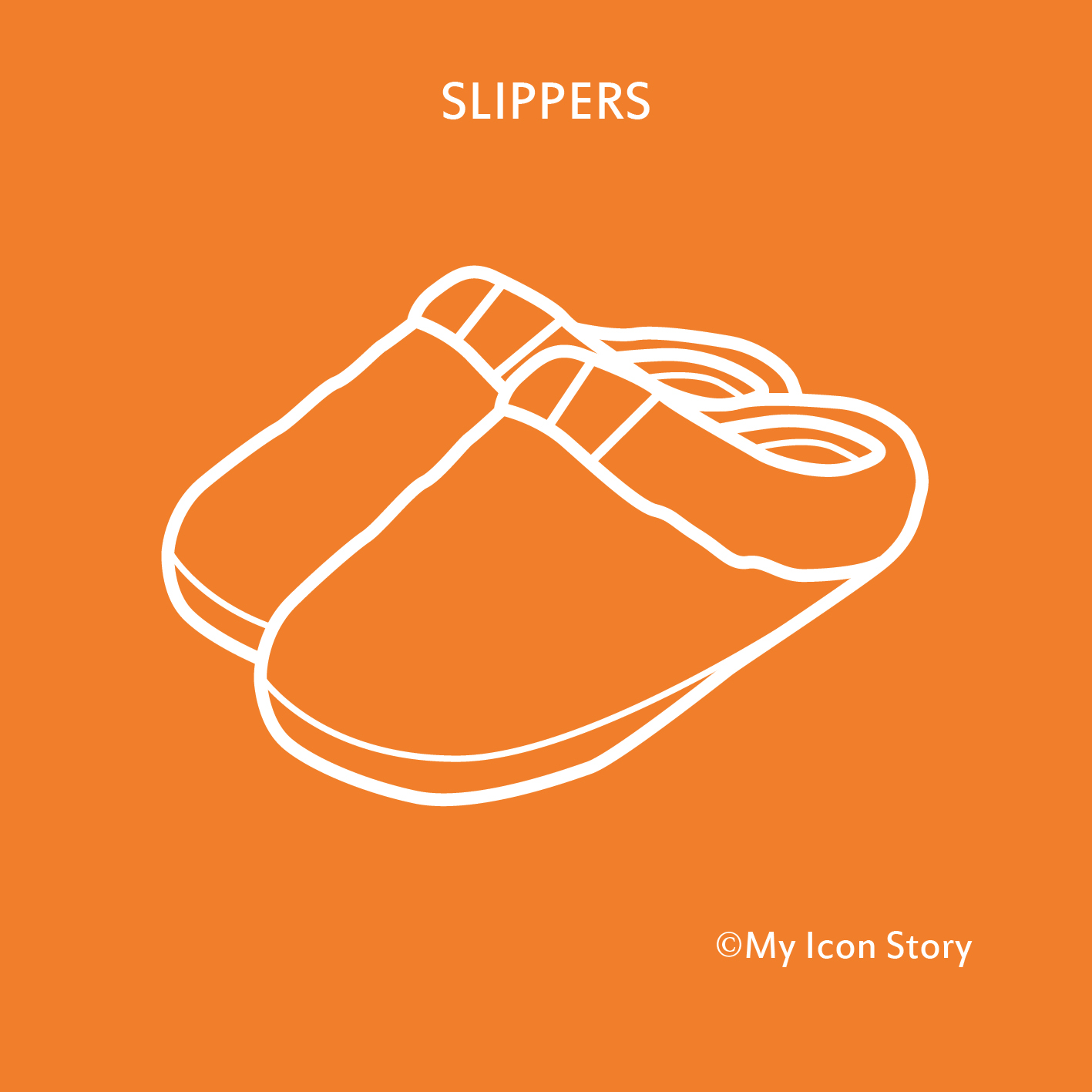 Pair of slippers icon