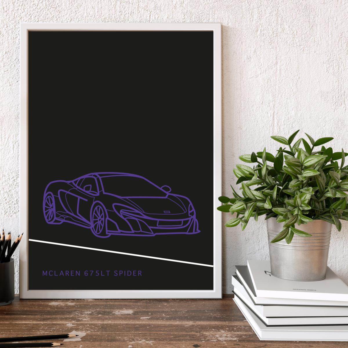 McLaren 675LT Spider Poster