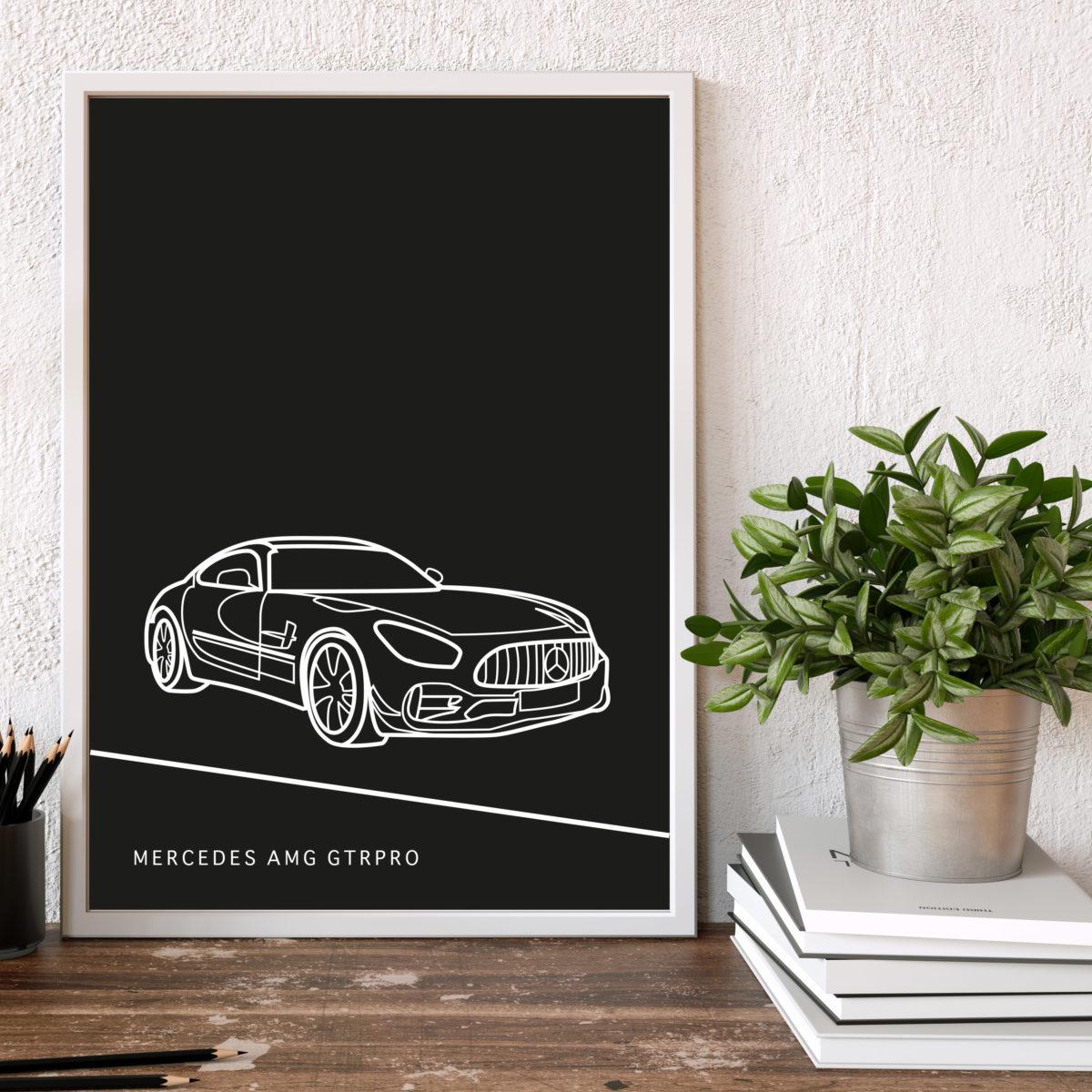 Mercedes AMG GTR Poster