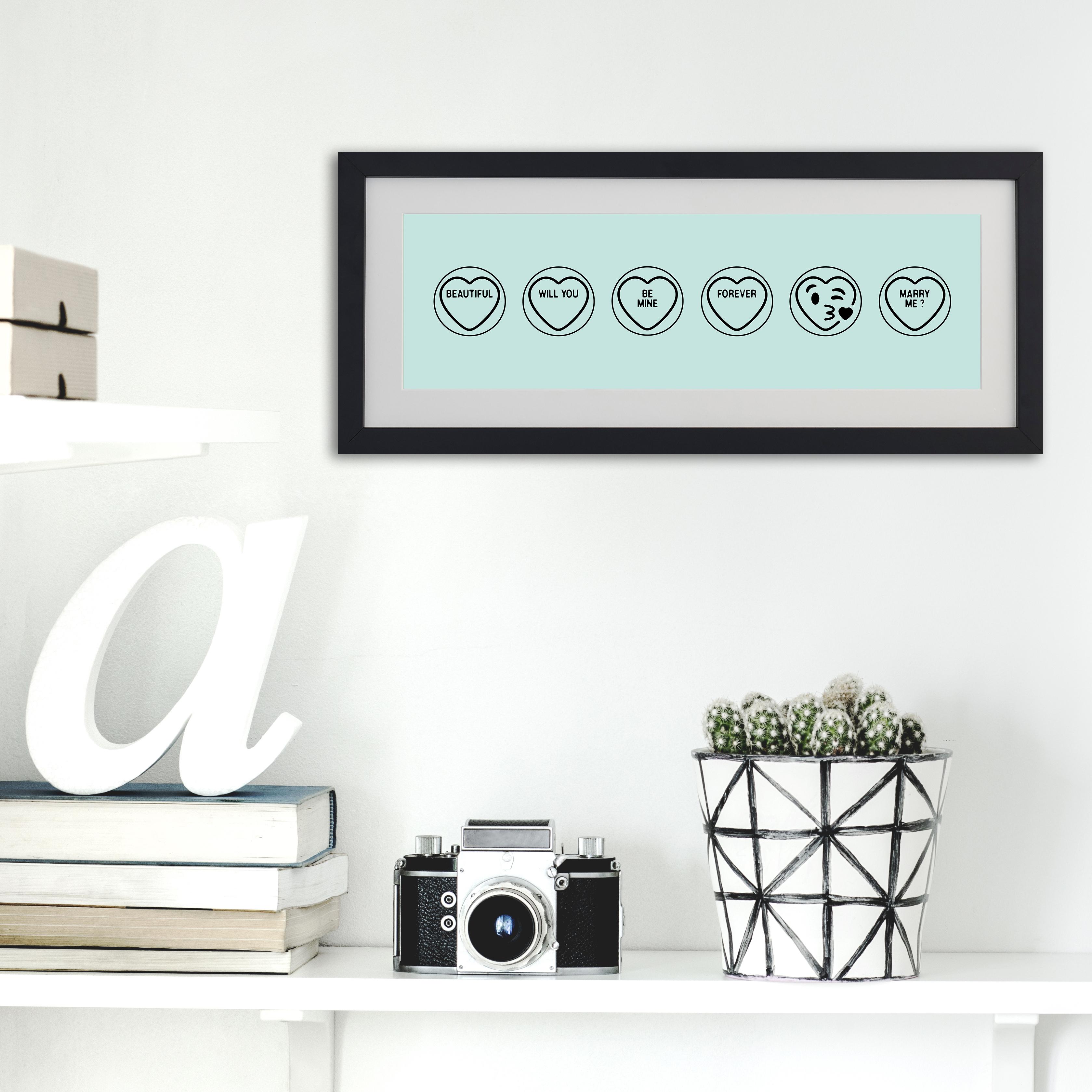 Mint emoji print